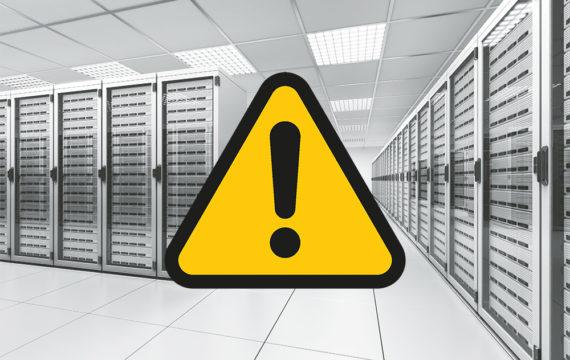Server room caution sign